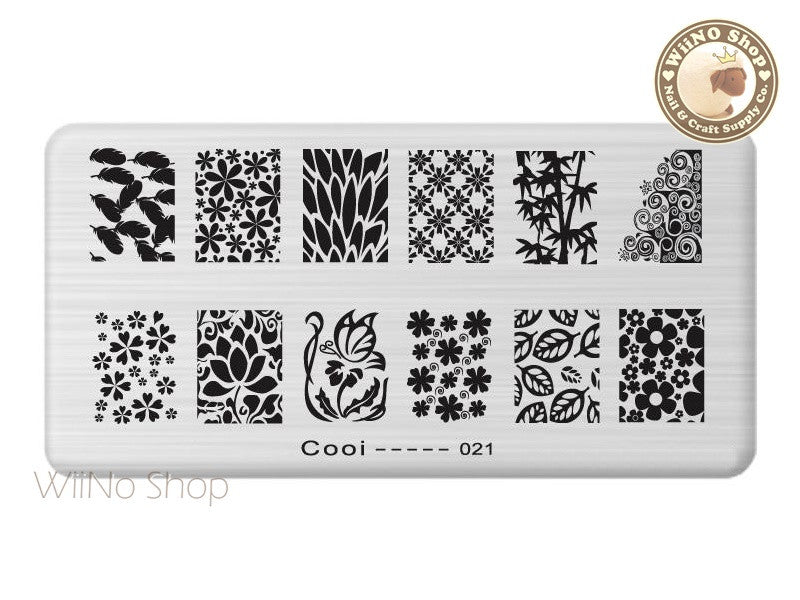 Cooi-021 Nail Art Stamping Plate Template