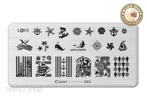Cooi-023 Nail Art Stamping Plate Template
