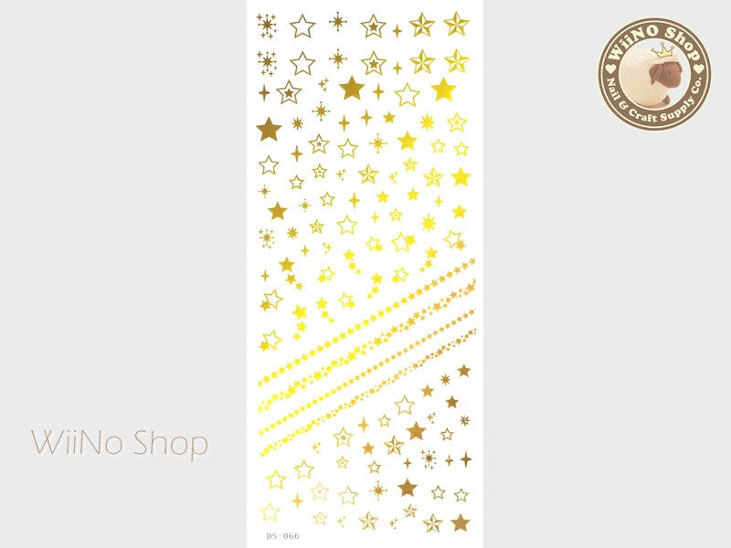 Yellow Gradation Star Water Slide Nail Art Decals - 1 pc (DS-066)