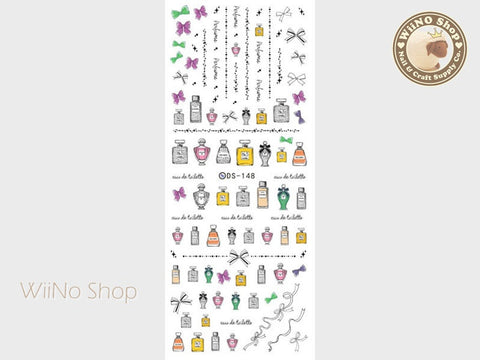 Perfume Bottle Water Slide Nail Art Decals - 1 pc (DS-148)