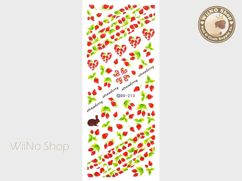 Strawberry Water Slide Nail Art Decals - 1 pc (DS-213)