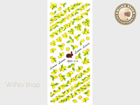 Lemon Water Slide Nail Art Decals - 1 pc (DS-214)