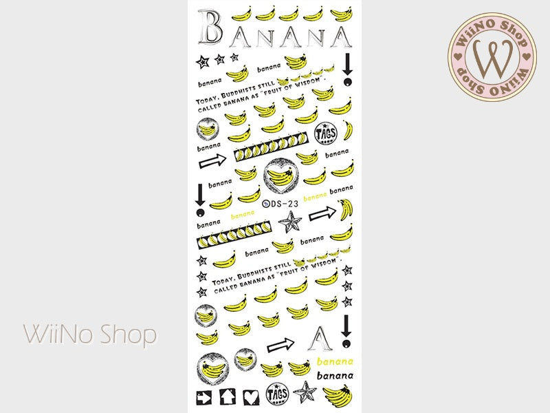 Banana Water Slide Nail Art Decals - 1 pc (DS-23)