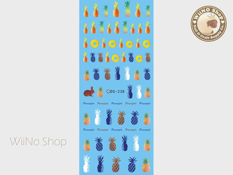Pineapple Water Slide Nail Art Decals - 1 pc (DS-238)
