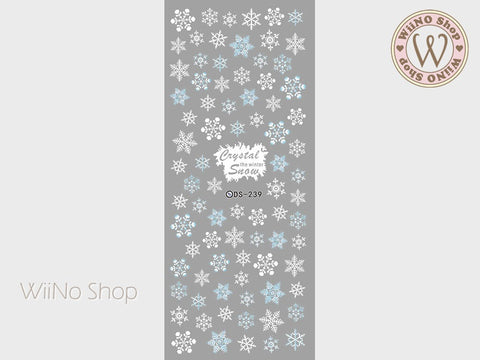 Snowflake Water Slide Nail Art Decals - 1pc (DS-239)