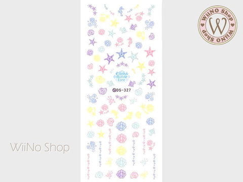 Cotton Marine Lace Water Slide Nail Art Decals - 1 pc (DS-327)