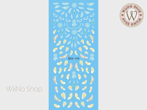 Dreamcatcher Feather Water Slide Nail Art Decals - 1 pc (DS-398)