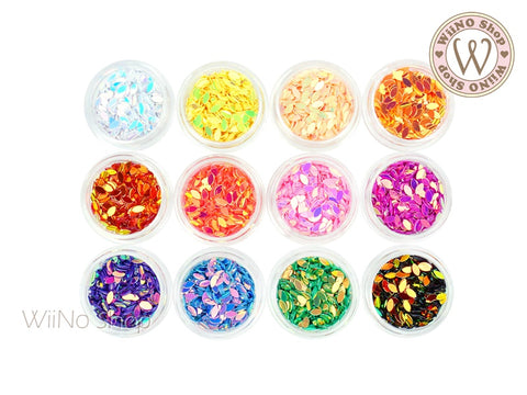 2 x 4mm AB Color Marquise Glitter