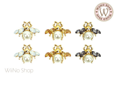 Fancy Queen Bee Nail Metal Charm - 2 pcs