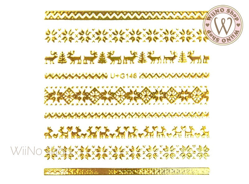 Winter Sweater Pattern Adhesive Nail Art Sticker - 1 pc (U+G146)