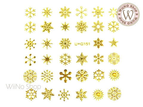 Snowflake Adhesive Nail Art Sticker - 1 pc (U+G151)