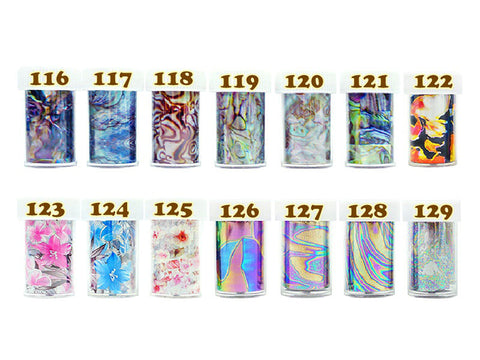 Transfer Foil Nail Art Decoration - 1 pc (116-129)
