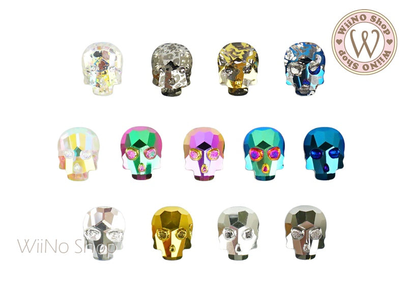 8 x 10mm Skull Flat Back Crystal - 2 pcs