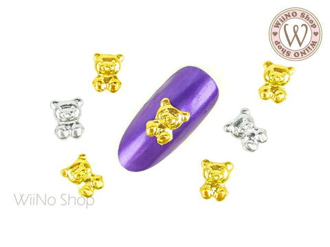 Teddy Bear Nail Metal Charm - 2 pcs