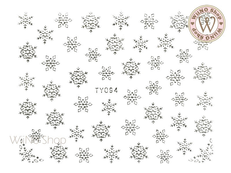 Silver Snowflake Nail Art Sticker - 1 pc (TY094S)