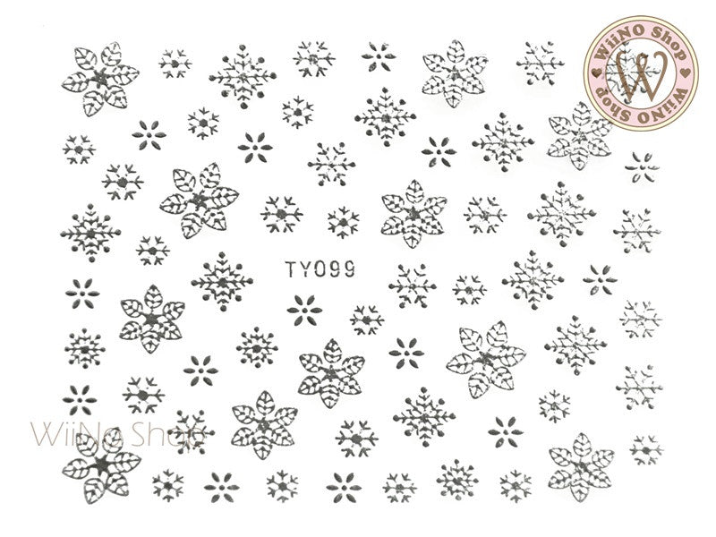 Silver Snowflake Nail Art Sticker - 1 pc (TY099S)