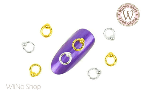 Captive Ring Piercing Jewelry Nail Metal Charm - 4 pcs