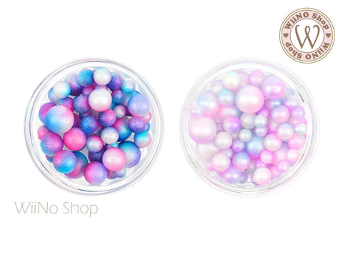 Matte Mermaid Gradient Pearl Beads (No Hole)