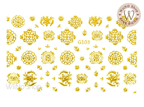 Lace Pattern Adhesive Nail Art Sticker - 1 pc (G-103)