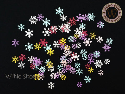 Colorful Snowflake Nail Art Sequin Decoration