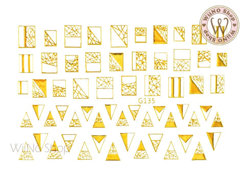 Geometry Pattern Adhesive Nail Art Sticker - 1 pc (G-135)