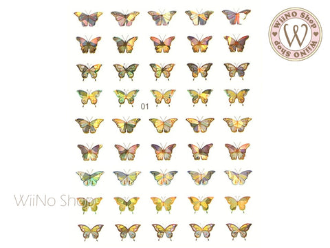 Butterfly Holographic Adhesive Nail Art Sticker - 1 pc (WB01)