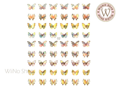 Butterfly Holographic Adhesive Nail Art Sticker - 1 pc (WB02)