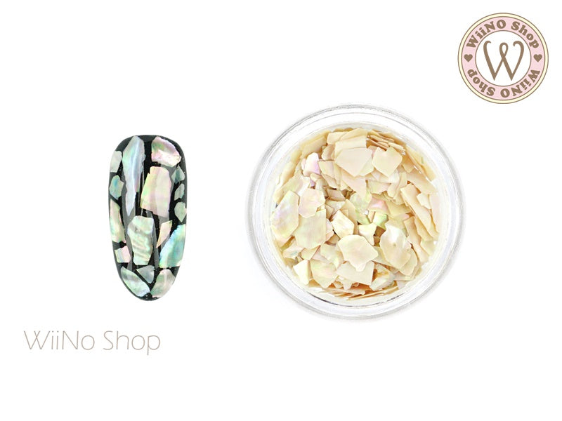 Natural Ivory Abalone Chips Crushed Shell Nail Art Decoration