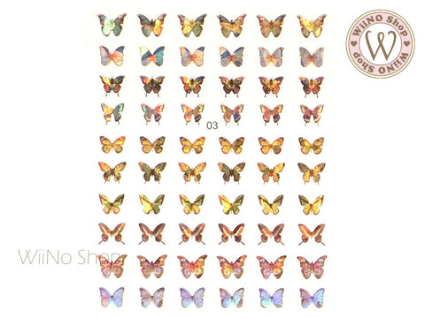 Butterfly Holographic Adhesive Nail Art Sticker - 1 pc (WB03)