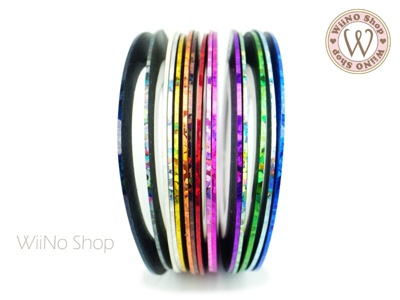 1mm Holographic Nail Art Striping Tapes Line