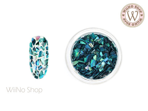 Turquoise Natural Abalone Crushed Shell Nail Art Decoration