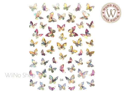 Butterfly Holographic Adhesive Nail Art Sticker - 1 pc (WB04)