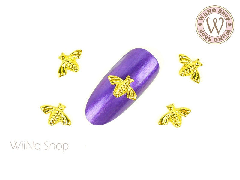 Bee Nail Metal Charm - 2 pcs