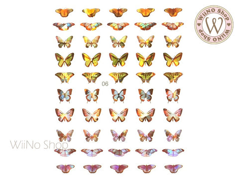 Butterfly Holographic Adhesive Nail Art Sticker - 1 pc (WB06)