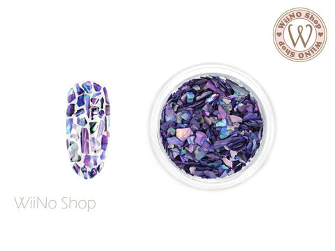 Purple Natural Abalone Crushed Shell Nail Art Decoration