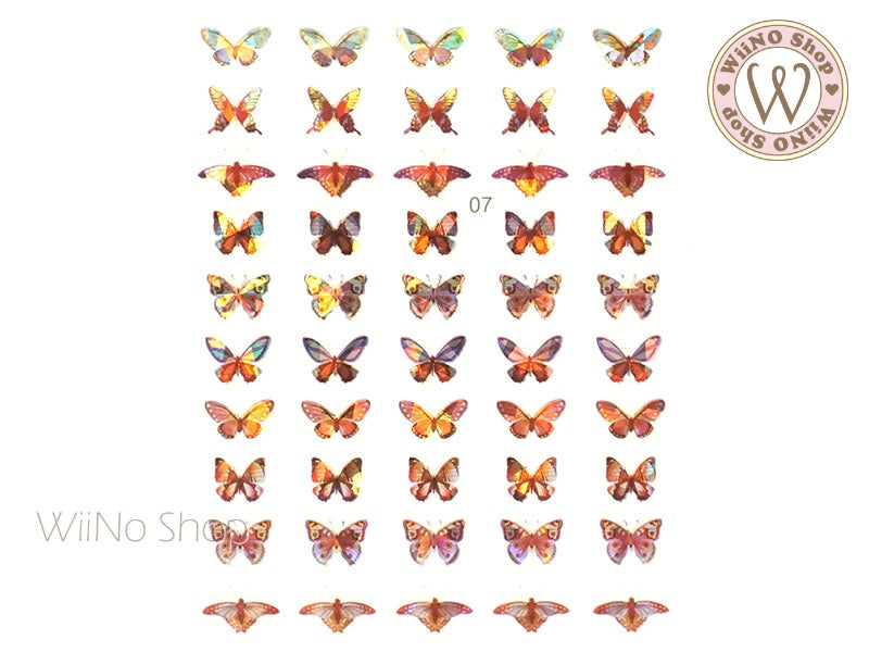 Butterfly Holographic Adhesive Nail Art Sticker - 1 pc (WB07)