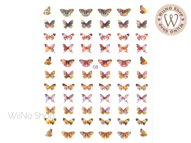 Butterfly Holographic Adhesive Nail Art Sticker - 1 pc (WB08)