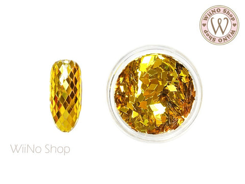 2 x 3mm Gold Diamond Shape Glitter (DM06)