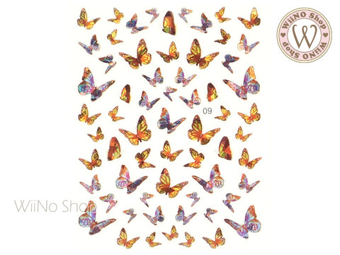 Butterfly Holographic Adhesive Nail Art Sticker - 1 pc (WB09)