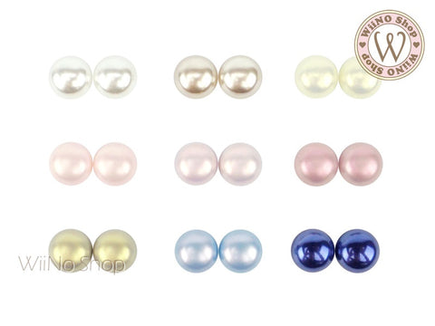 Illusion Flat Pearl Nail Art Decoration (6mm/8mm/10mm)