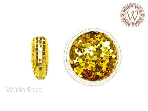 2mm Gold Square Glitter (SQ01)