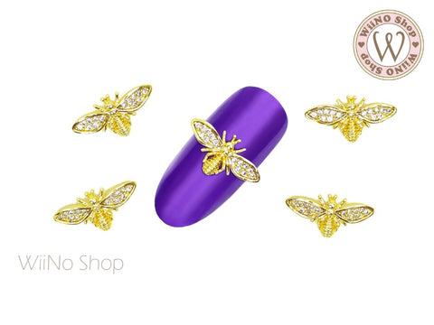 Bee Crystal Nail Jewelry Charm - 2 pcs