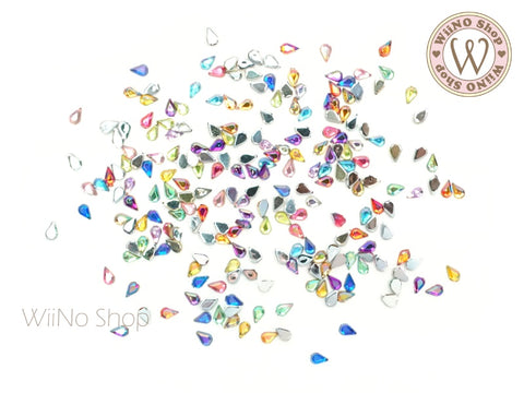 1.5x3mm AB Mixed Color Drop Flatback Acrylic Rhinestone - 100 pcs