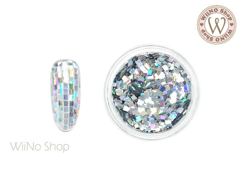 2mm Silver Holographic Square Glitter (SQ03)