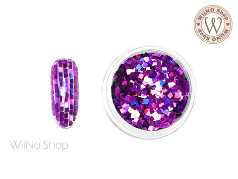 2mm Purple Holographic Square Glitter (SQ05)
