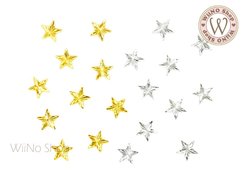 Radial Star Metal Decoration - 5 pcs