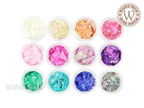Color Crushed Shell Chips Nail Art Decoration