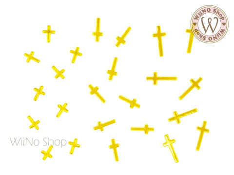 Cross Flat Metal Decoration - 10 pcs