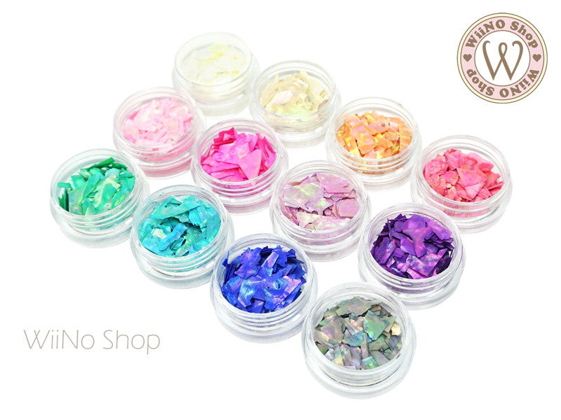 Color Crushed Shell Chips Nail Art Decoration Wiino Shop