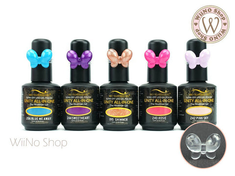 Butterfly Nail Polish Color Display Ring - 20 pcs